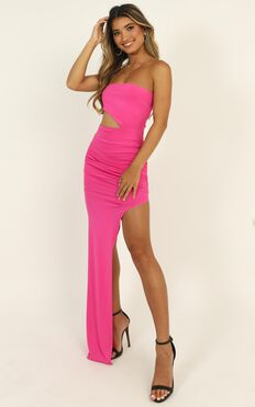 Pretty Young Thing Maxi Dress In Hot Pink