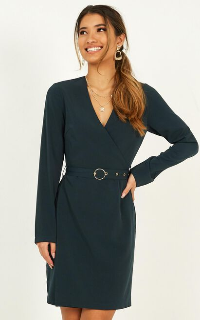 On Task Dress in emerald - 20 (XXXXL), Green, hi-res image number null