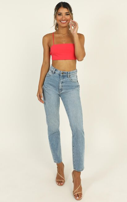 Just The Way I Am Crop Top In watermelon - 12 (L), Orange, hi-res image number null