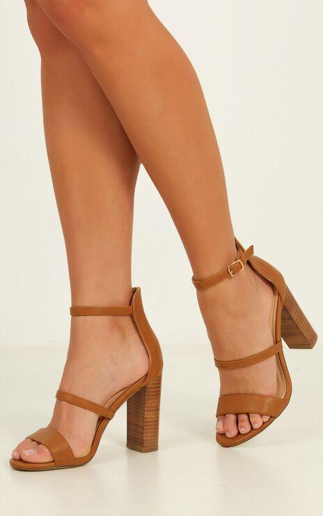 Verali - Bubba Heels In Tan Smooth