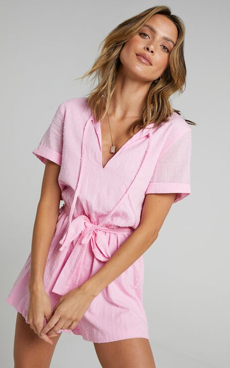 Northern Sun Playsuit In Pink