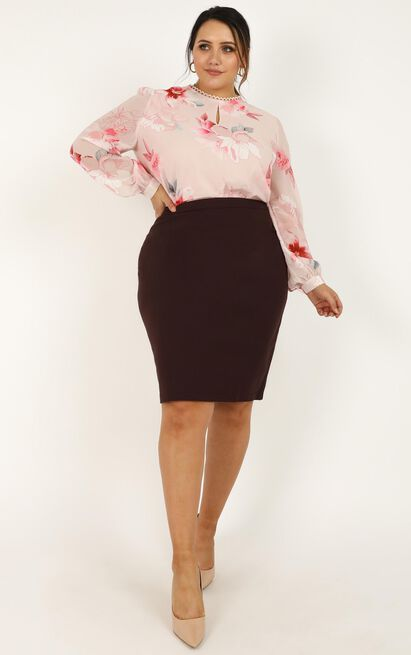 Fitting In Top In blush floral - 20 (XXXXL), Blush, hi-res image number null