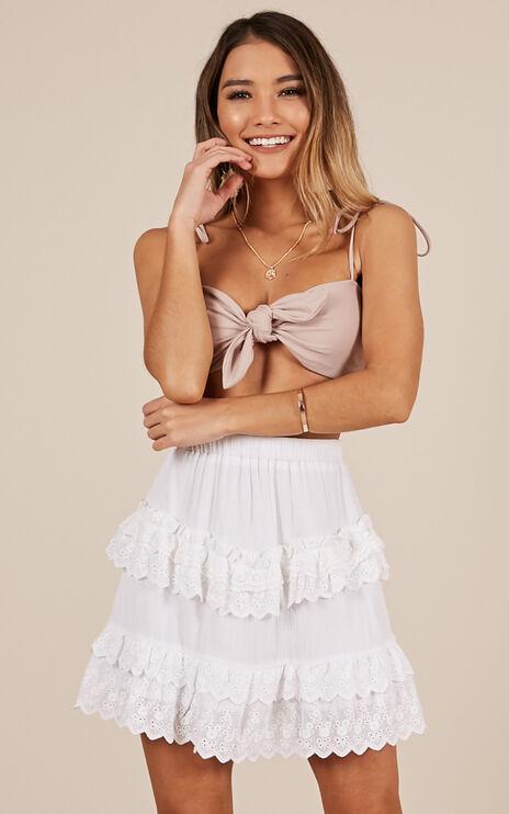 Enlighten Me Skirt In White