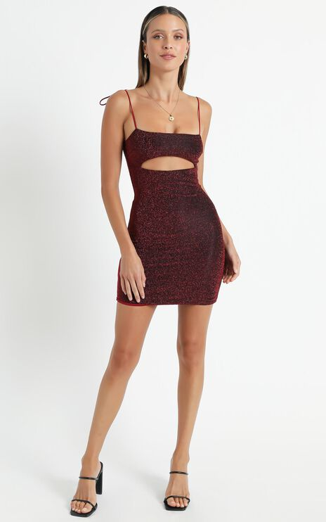 Mercy Dress in Wine Lurex