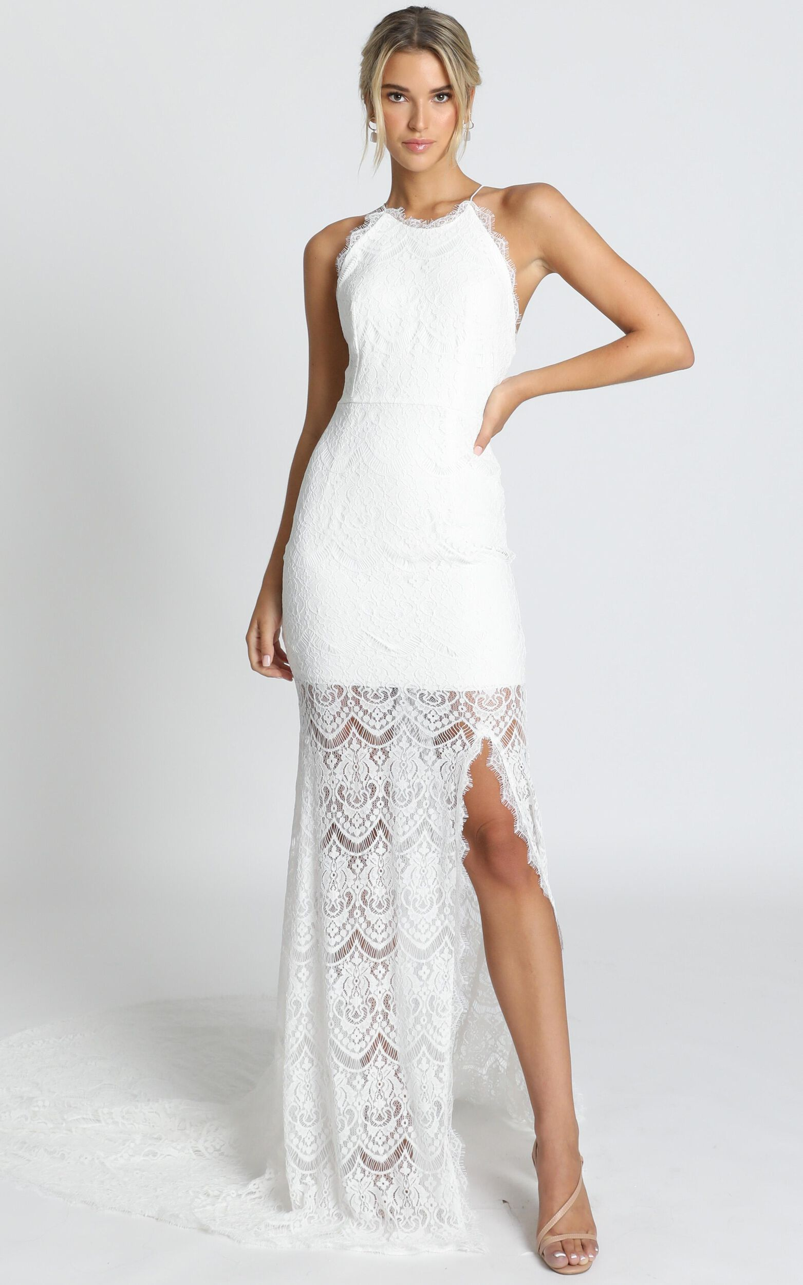 Fall In Deep Gown in ivory lace - 20 (XXXXL), Cream, super-hi-res image number null