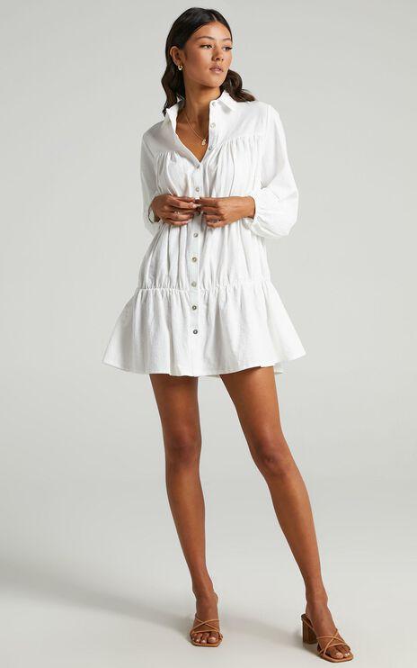 Abhy Dress in White