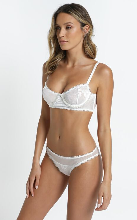 Kat The Label - Beatrice Bustier in White