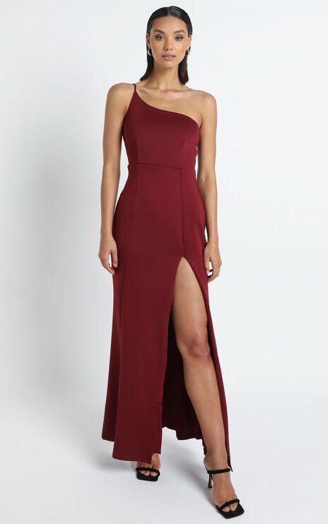 No Ones Fault Dress In Wine