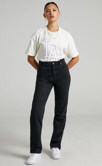 Rollas - Original Straight Long Jean in Comfort Jet Black
