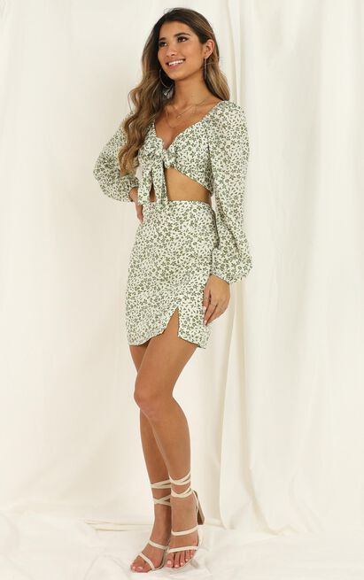 Another Era two piece set in white floral - 12 (L), White, hi-res image number null