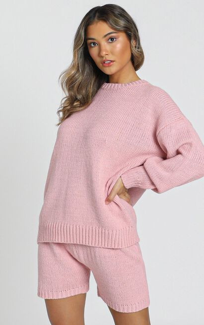 Loretta Knitted Jumper in rose - S, Pink, hi-res image number null