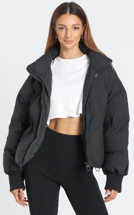 Windsor Puffer Jacket in Black