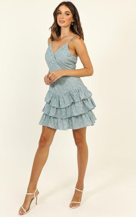 Lead Me Back Dress In Mint Floral