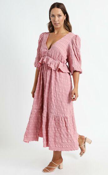 Addilyn Dress in Rose Check