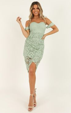 Try It Out Dress In Sage Lace