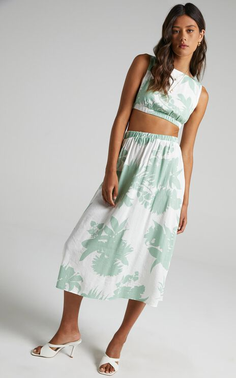 Tash Two Piece Set in Green Palm