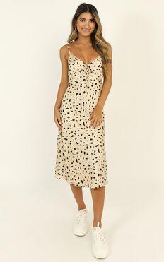 Toss The Dice Dress In Leopard Print