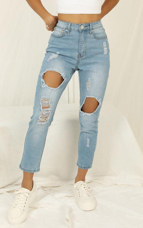 Georgia Jeans In Mid Wash Denim
