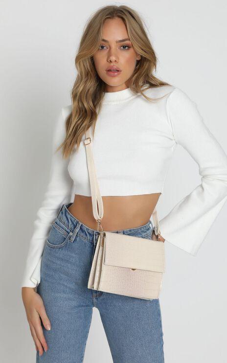True Fashion Structured Bag In Beige
