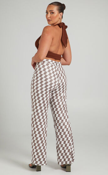 Lenny Pants in Brown check