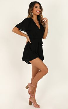 Looking On Point Playsuit In Black