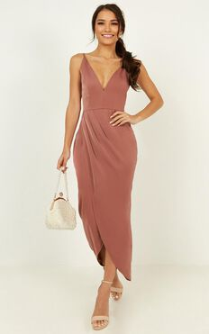 Shes A Dreamer Dress In Dusty Rose