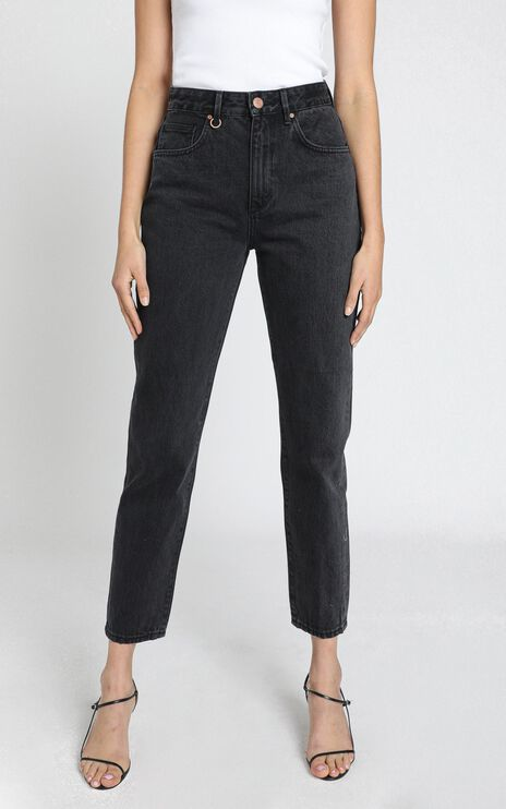 Neuw - Lola Mom Jeans in Stoned Black