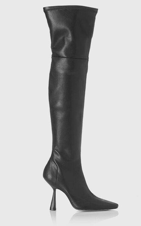 Alias Mae - Victoria Boots in Black Stretch