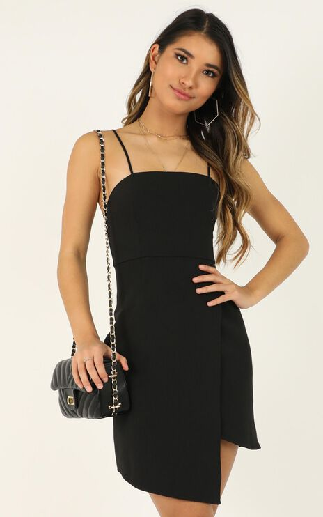 Waiting For A Miracle Dress In Black