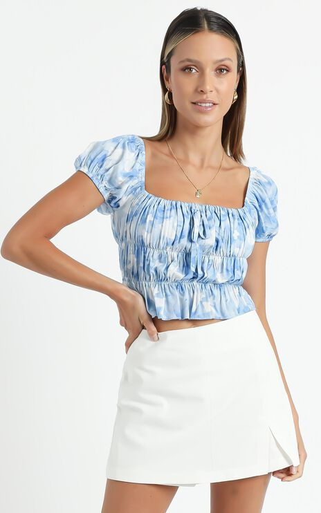 Gimme Top in Cloudy Floral
