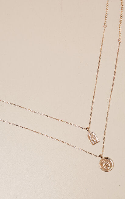 Last To Leave necklace set in gold, , hi-res image number null