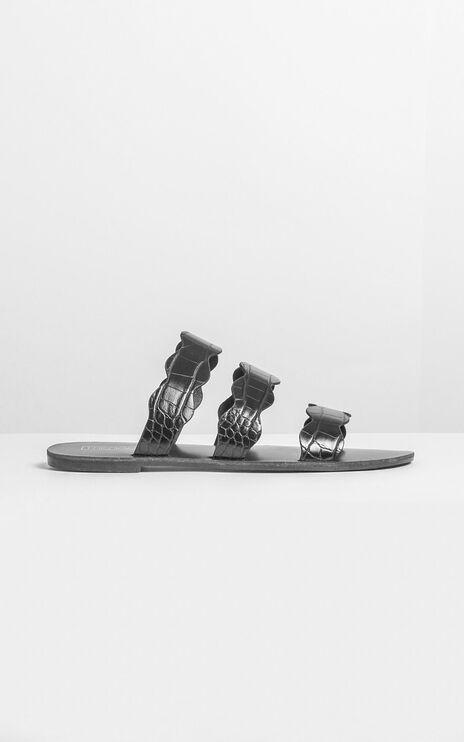 Therapy - Corbin Sandals In Black Croc