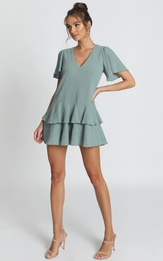 Bahama Baby Dress In Sage