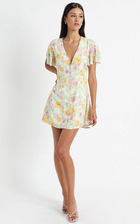 Daiquiri Dress in Linear Floral