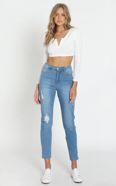 Elah Jeans in Light Wash