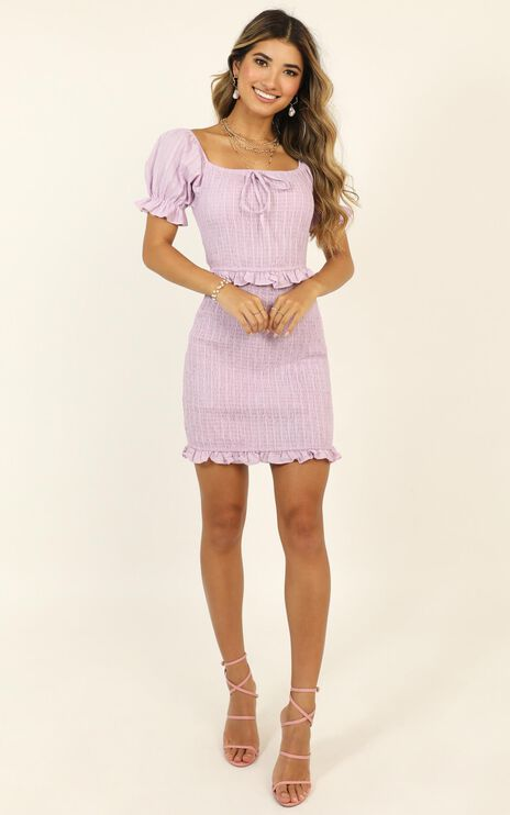 Another Dreamer Pleated Dress In Lilac