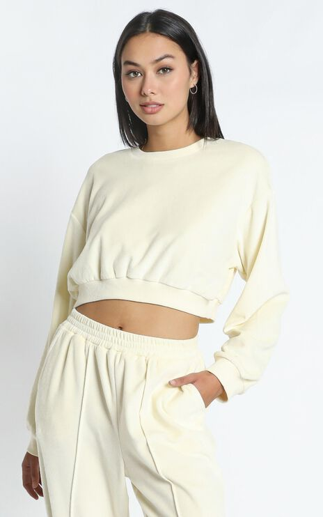Merrick Sweat Jumper in Cream