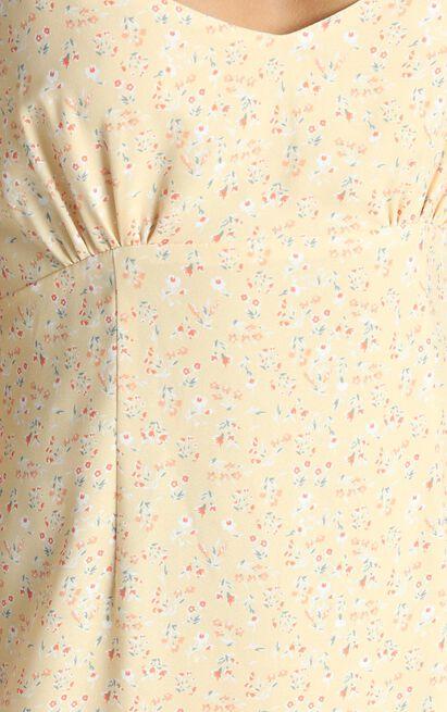 Dominika Midi Dress with Frill Hem in apricot - 12 (L), Orange, hi-res image number null