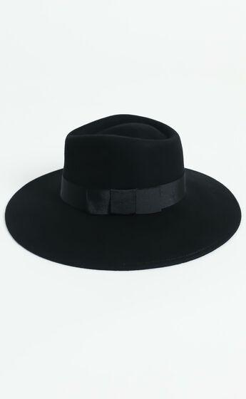 Brixton - Joanna Felt Hat in Black