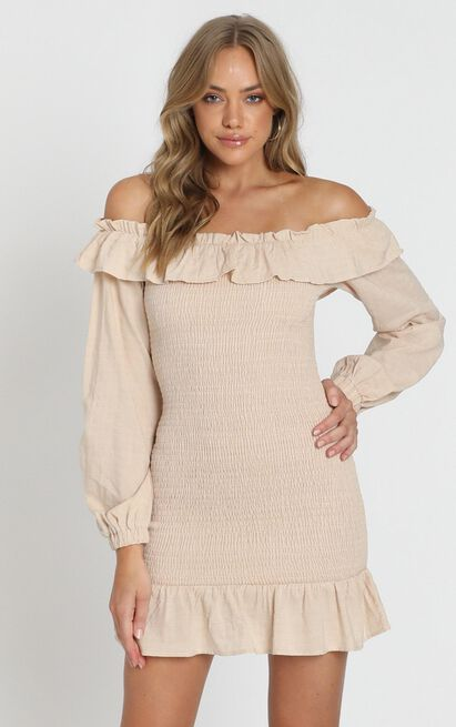 Caillou Dress in taupe - 8 (S), Taupe, hi-res image number null