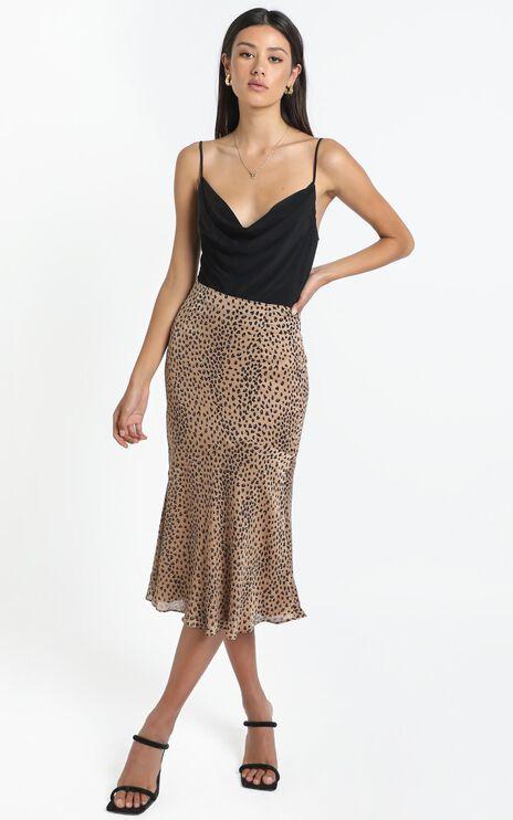 Analia Skirt in Tan Print