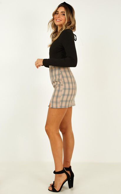 First Editions Skirt in beige check - 20 (XXXXL), Beige, hi-res image number null