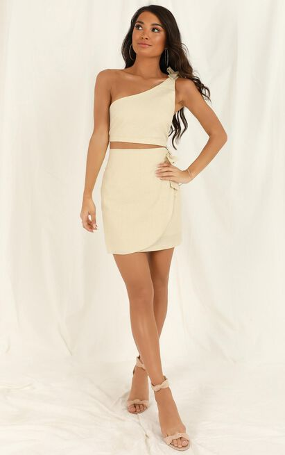 Rumour Mill Two Piece Set in natural linen look - 20 (XXXXL), Beige, hi-res image number null