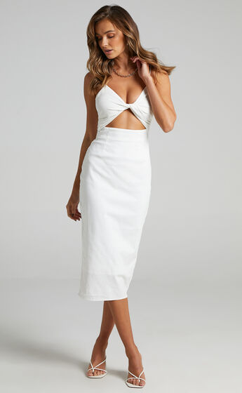 Runaway The Label - Sendai Midi Dress in White