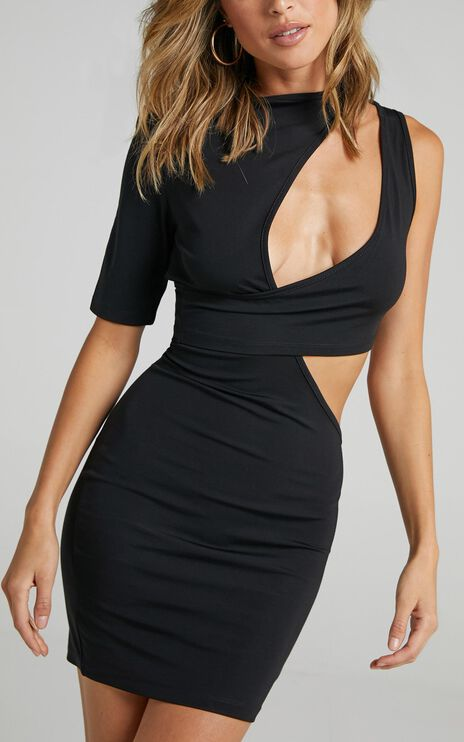 Lioness - Wylde Mini Dress in Black