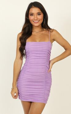 Nothing But Time Dress In Lilac
