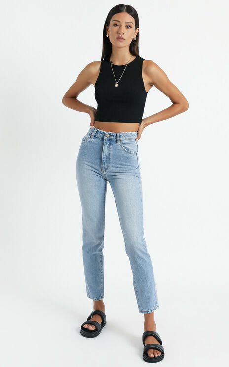 Rollas x Sofia Richie - Dusters Jean in Old Stone