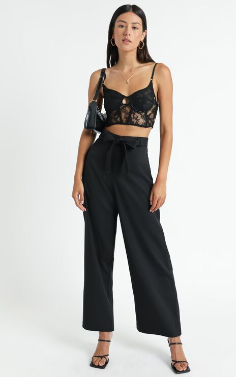 Miss Gold Pants In Black
