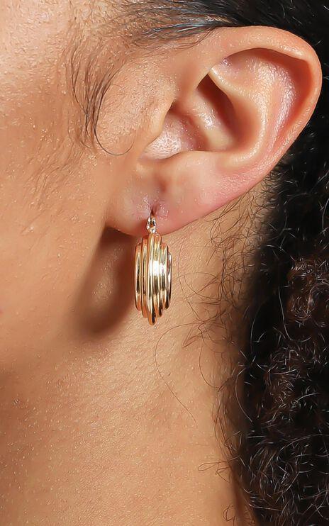 Kylah Hoop Earrings in Gold