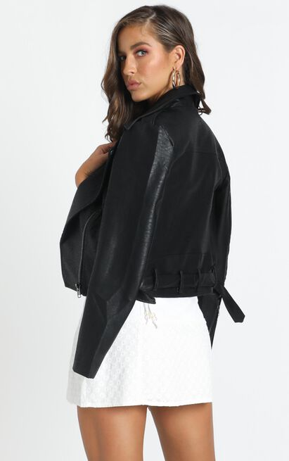 Your Desired Jacket in black leatherette - 14 (XL), Black, hi-res image number null